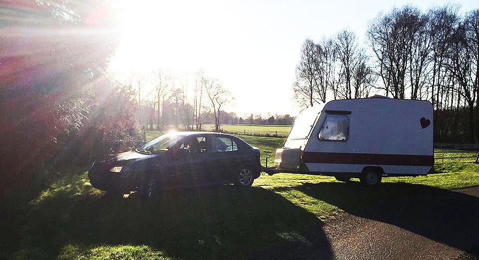 Auto-caravan-combinatie