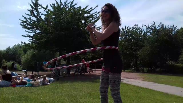 hoopdancing
