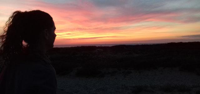Waanzinnige zonsondergang in Kijkduin